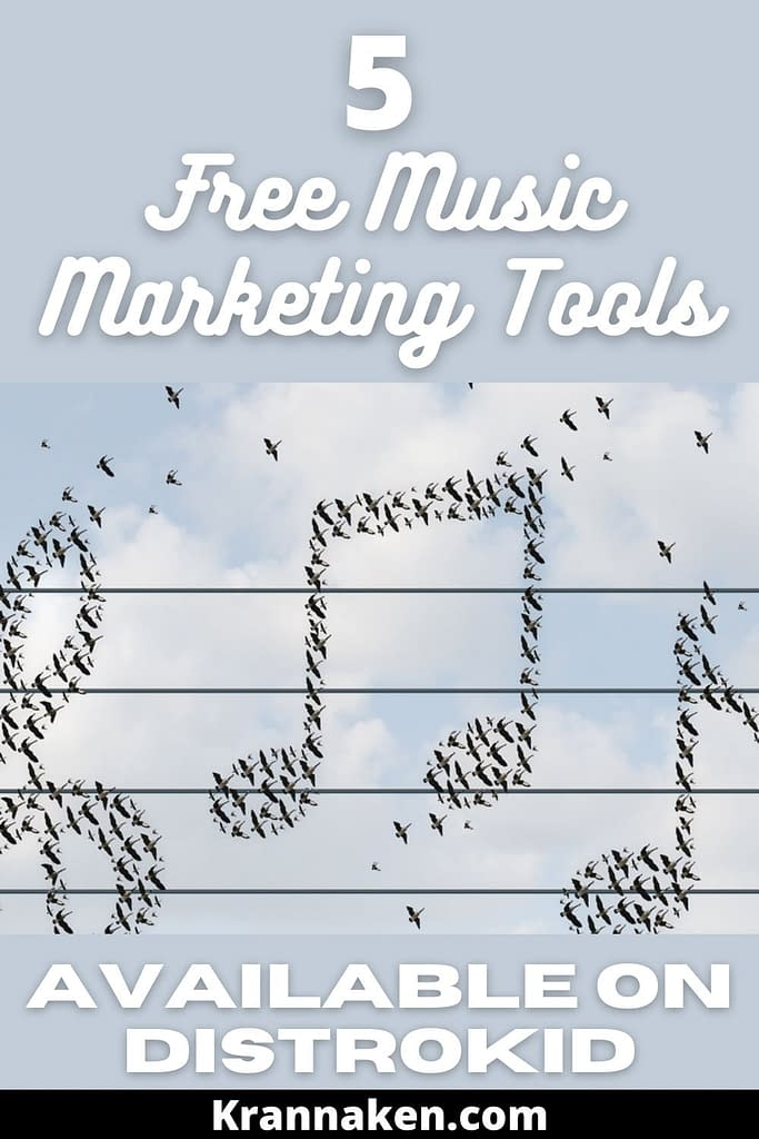 As an artist you will have heard of Distrokid.  Today I am going to show you 5 free music marketing tools available to Distrokid Artists.